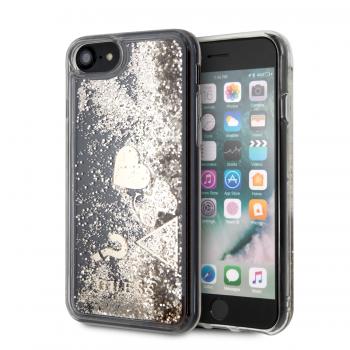 9383fe79d34 GUESS carcasa 'GLITTER HEARTS' IPhone XS MAX ORO